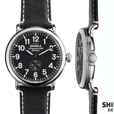 Engineered with an obsessive focus on making a watch of the highest possible quality. Shinola Detroit-built Argonite 1069 movement. 46 piece quartz movement made with Swiss parts. Premium American-made leather strap, made by Hadley-Roma in Largo, Florida.